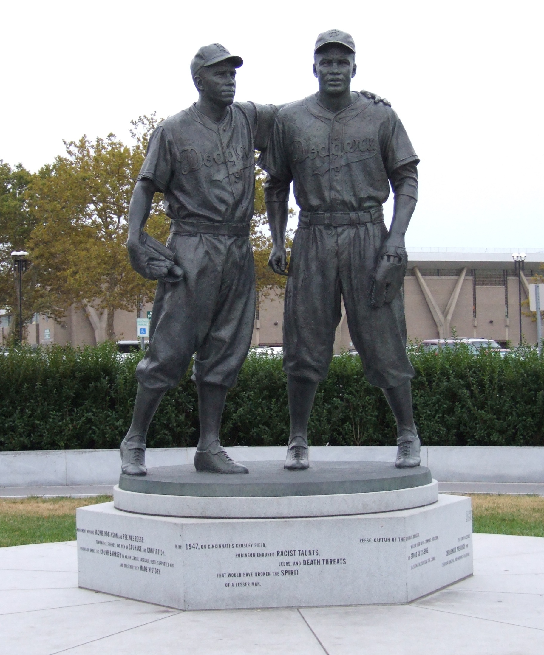 Jackie Robinson and Pee Wee Reese. A simple gesture, a profound ...