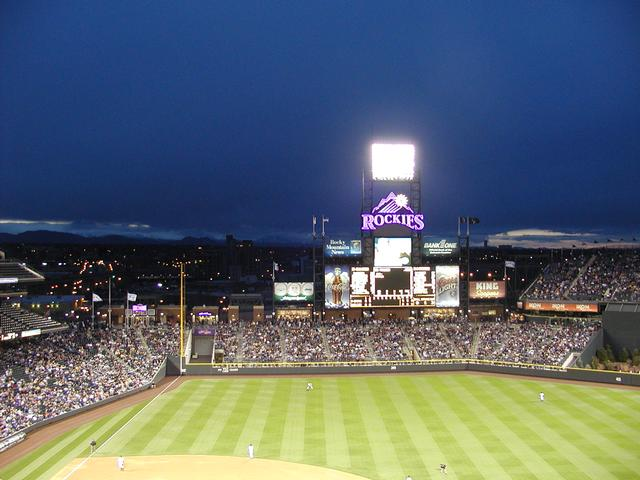 Coors Field - View of the Rockies from the upper deck